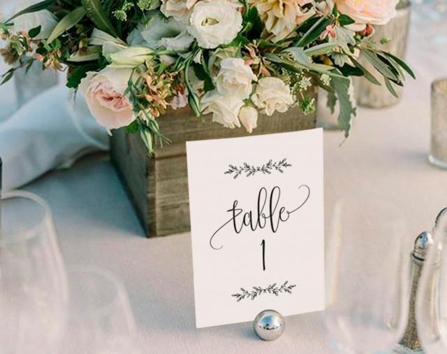 Wedding Table Numbers Printable Table Numbers Rustic