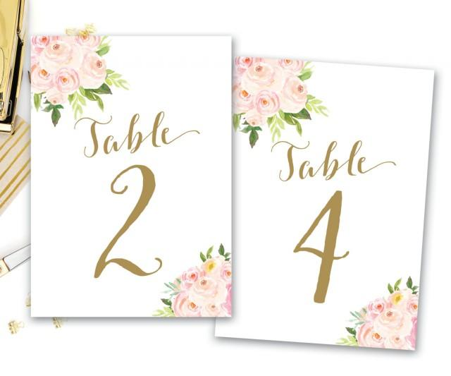 Printable Table Numbers Floral Floral Table Numbers Boho