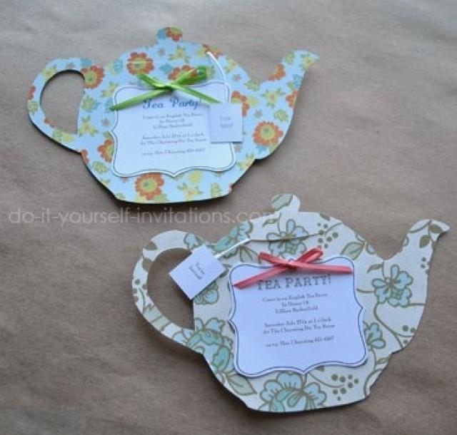 DIY Tea Party Invitations: Cute And Crafty Tea Pots ...