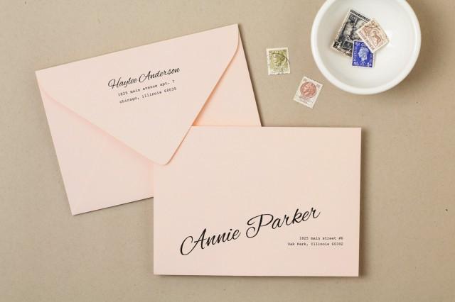Printing Wedding Invitation Envelopes At Home: Printable Wedding Envelope Template #2509330