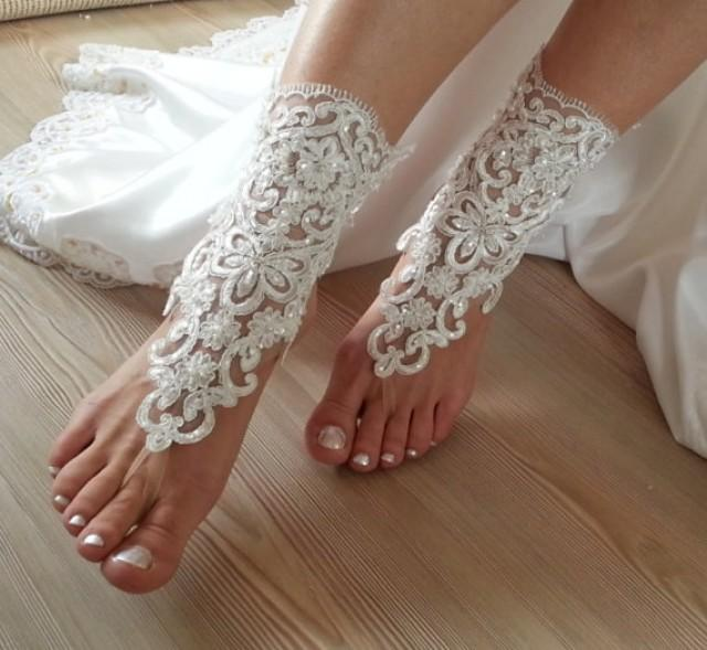 wedding photo - free shipping. anklet, Beach wedding barefoot sandals, Steampunk, Beach Pool, Sexy, Yoga, Anklet , Bellydance, wedding party, wedding show