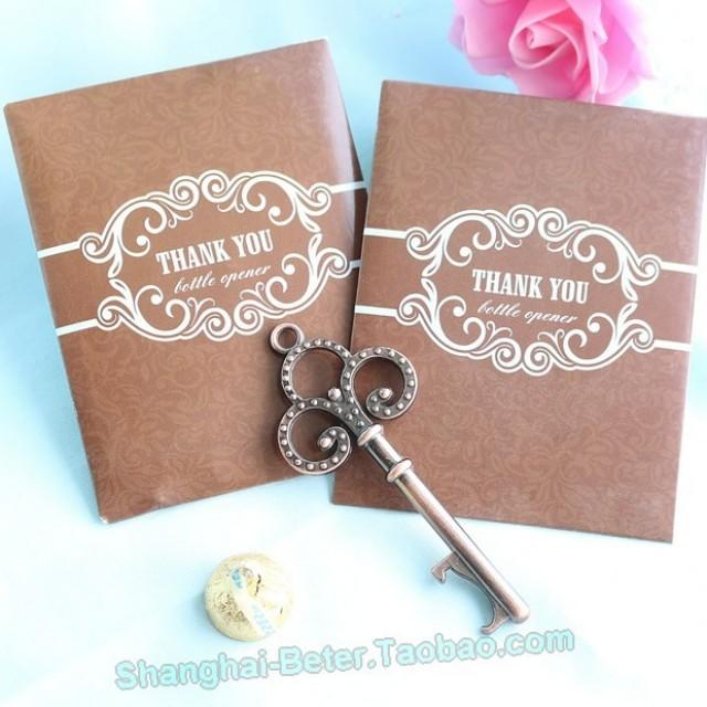 wedding photo - Wedding Party Key to My Heart Antique Wine Opener Gift BETER-HH030