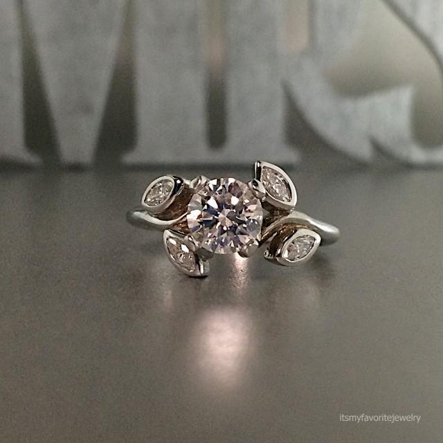 unique engagement ring white gold engagement