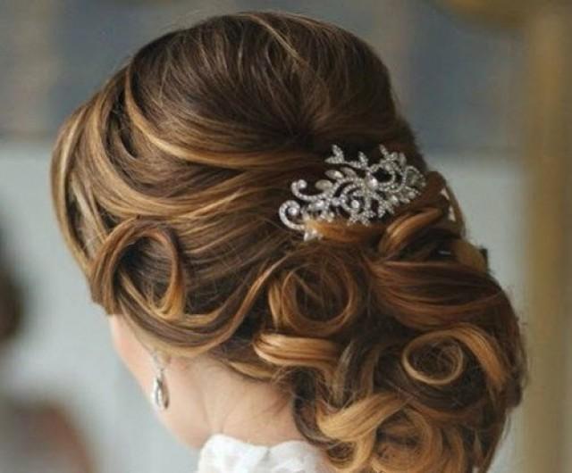 wedding photo - Crystal Wedding Hair Comb, Bridal Hair Comb, Rhinestone Hair Comb, Bridal headpiece, Bridal Hair accessories, Wedding hair accessories