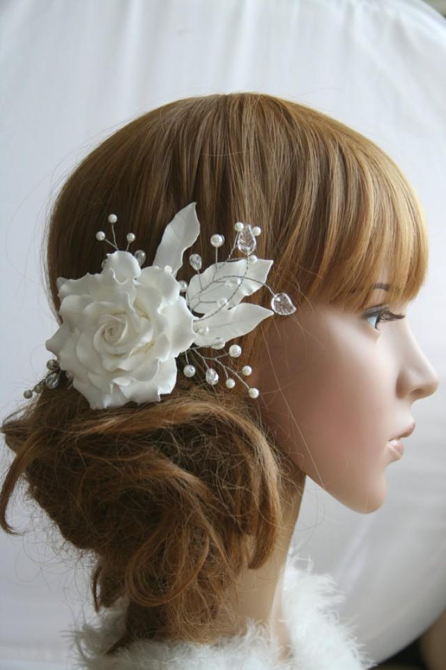 wedding photo - Wedding hair comb Rose comb Bridal flower headpiece Bridal flower comb Bridal hair flower Bridal hair comb Flower comb