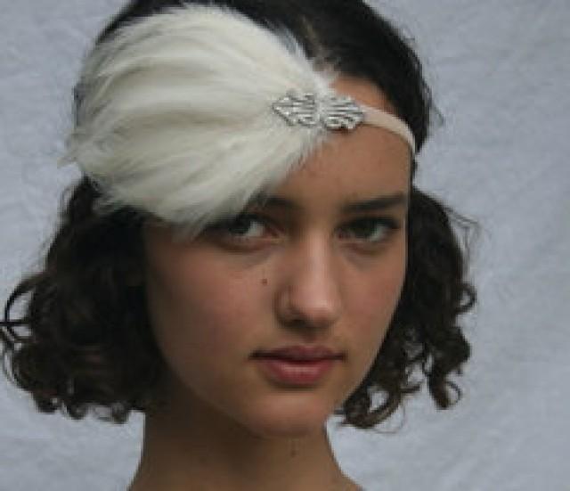 flapper headpiece headband mariage gatsby fascinator. Black Bedroom Furniture Sets. Home Design Ideas
