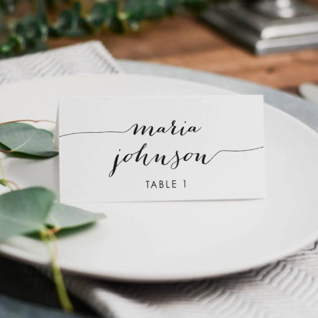 printed wedding place card folded escort card rustic place cards wedding printed. Black Bedroom Furniture Sets. Home Design Ideas