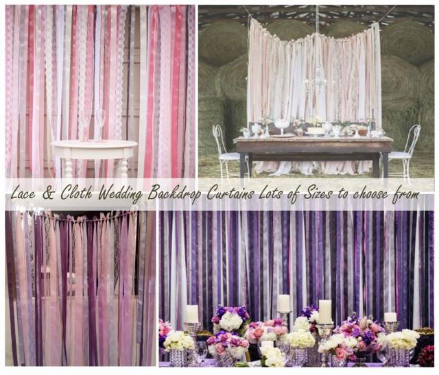 Wedding Backdrop Lace And Ribbon Backdrop Photo Backdrop 2511502 Weddbook