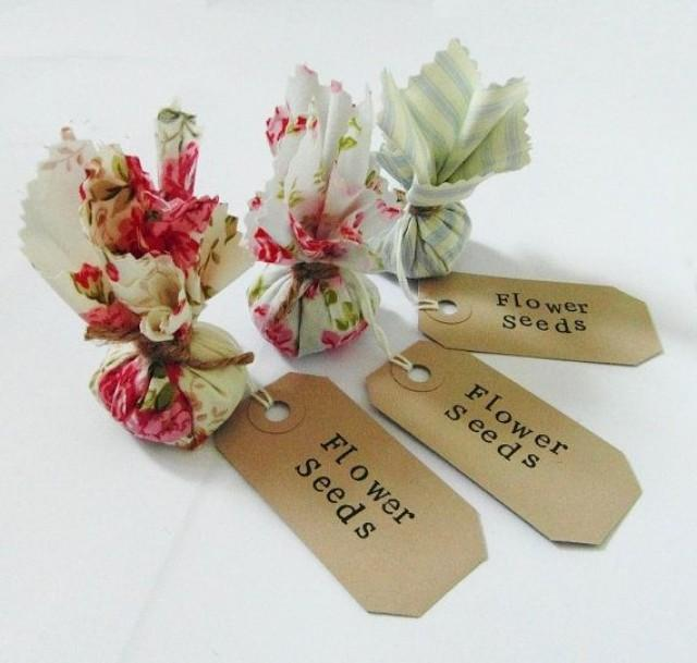 Flower Seed Wedding Favours: Set Of 10 Country Garden Flower Seed Wedding Favours With