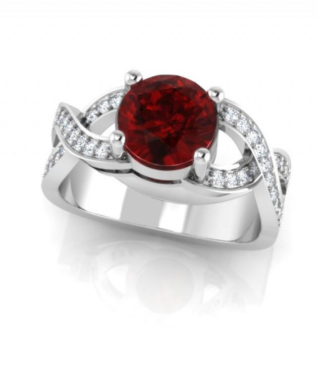 wedding photo - The Cerise Diamond Rings