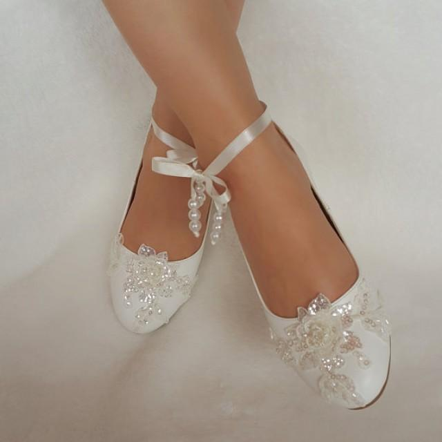 wedding photo - wedding shoes babette bridal shoes adorned with lace country wedding the bride and wedding accessories