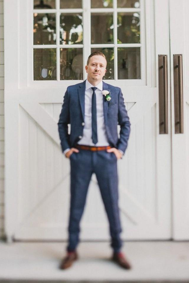 GroomNavy Groomsmen Suit #2513011Weddbook