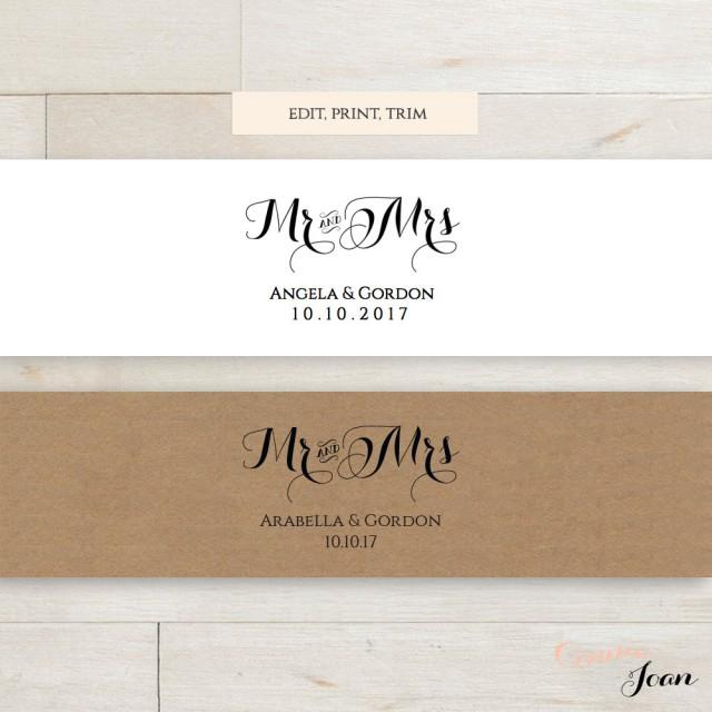 invitation belly band printable template wedding belly With wedding invitation belly band size