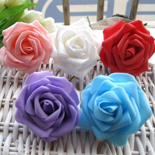 artificial foam rose real touch flowers for wedding bridal bouquet table centerpiece home decor. Black Bedroom Furniture Sets. Home Design Ideas