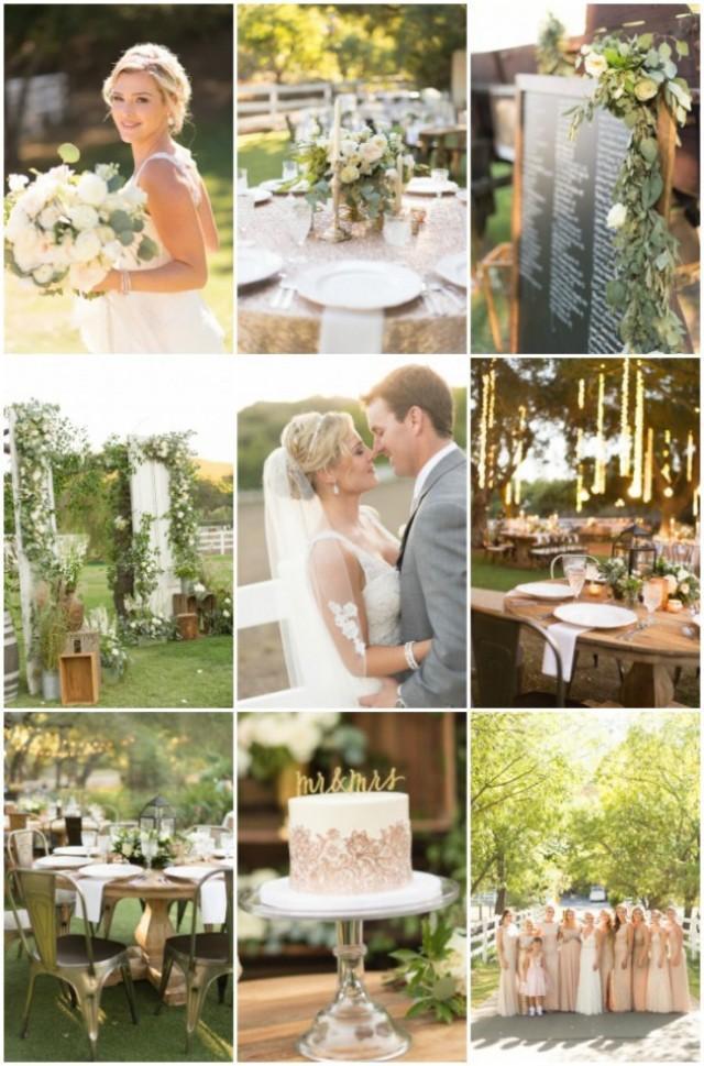 Luxury Backyard Wedding : Stunning Outdoor Wedding With Luxurious ScrapInspired Decor
