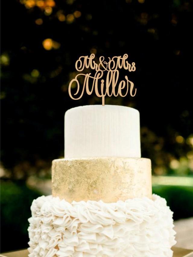 wedding photo - Wedding Cake Topper Mr Mrs Last Name Cake Topper Wood Wedding Topper Rustic Wedding Cake Topper