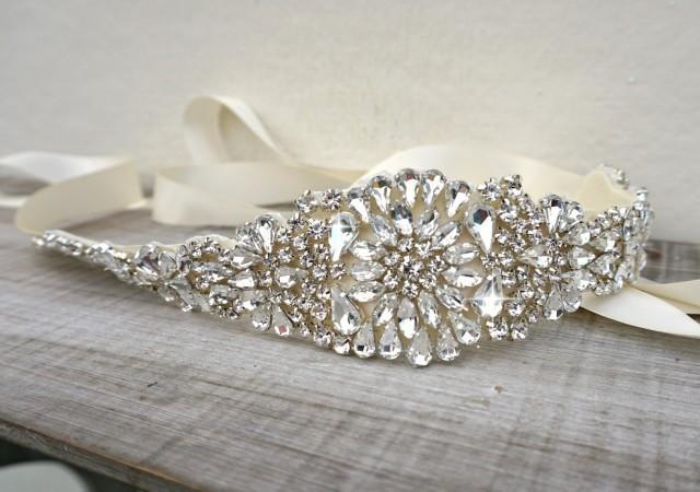 Bridal belt bridal sash great gatsby vintage bridal for Vintage wedding dress belts