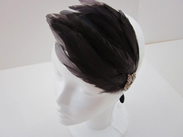 Headband mariage great gatsby dress annees 20 headband - Headband annee 20 ...