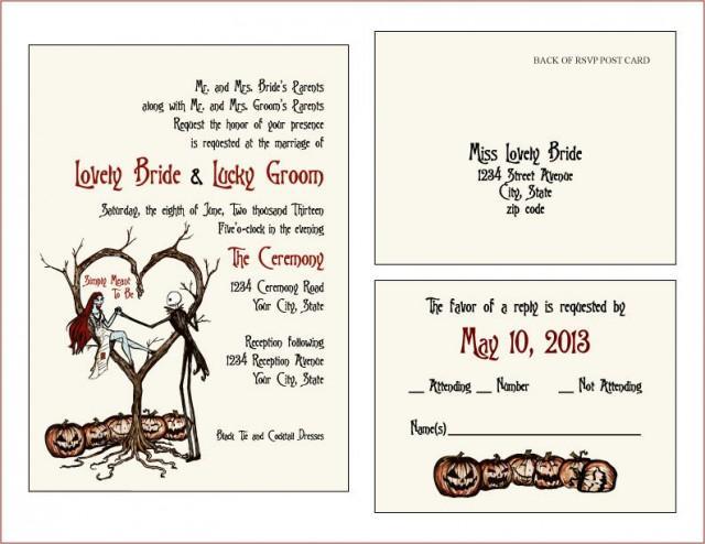 INVITES & RSVP CARDS - Vintage Fall Autumn Halloween ...