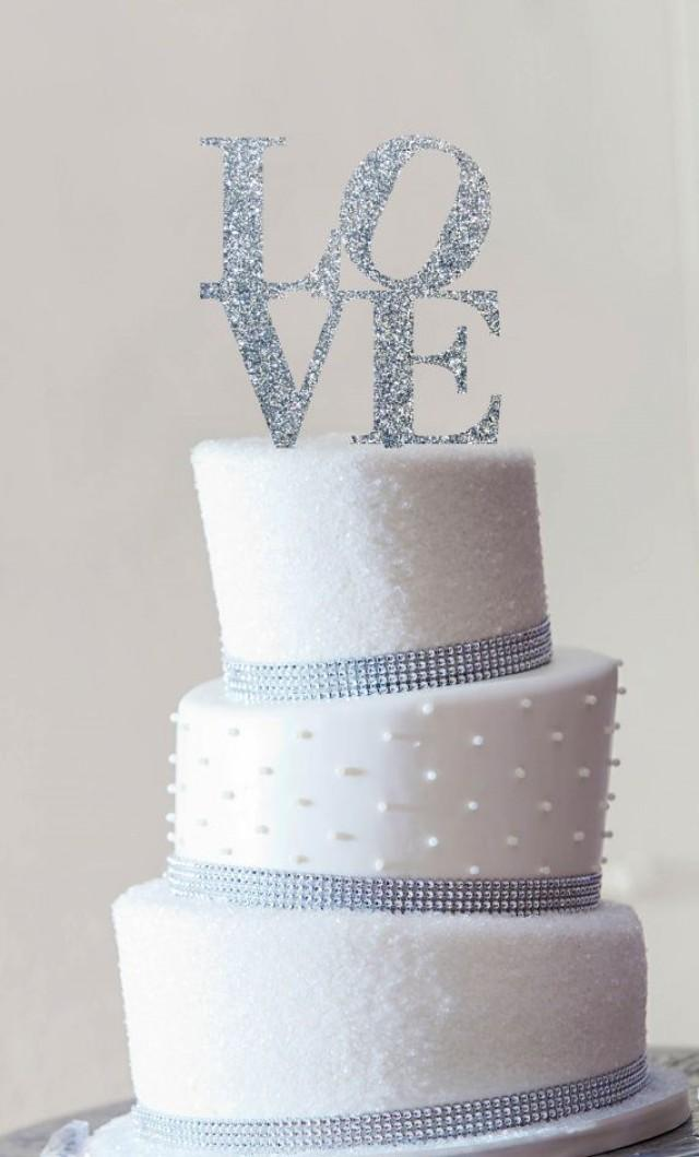 Love Images In Cake : Philadelphia LOVE Wedding Cake Topper In Custom Colors ...