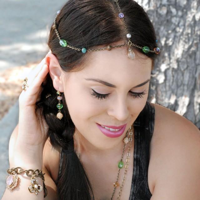 Bridal Hair Accessories Boho : Wedding headpiece gypsy boho head piece hair