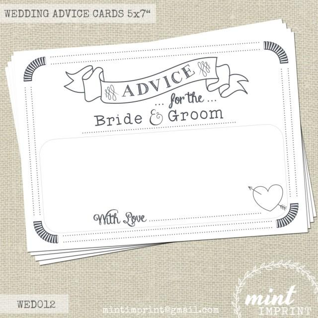 Wedding Advice Cards For The Bride And Groom / Wedding Messages ...
