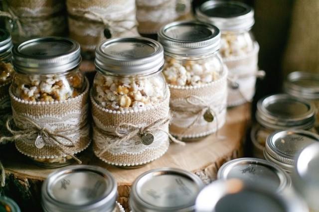 Food Amp Favor DIY Popcorn Mason Jar Wedding Favors