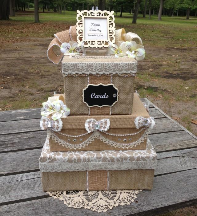 Rustic Victorian Wedding Card Box,card Holder For Wedding ...
