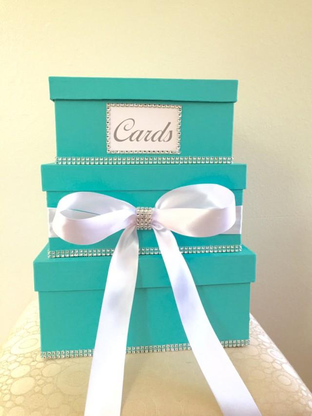 Card box for wedding 3 tier card box money box gift for Table 6 gift card