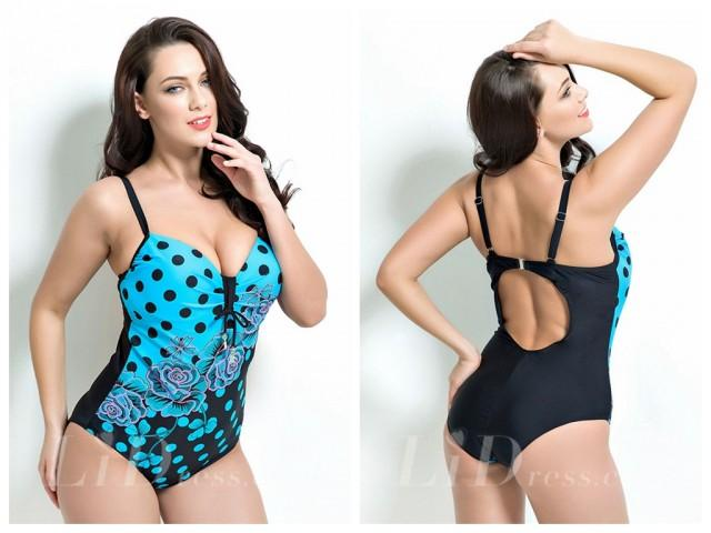 wedding photo - Print Plus Size One-Picec Swimwear Lidyy1605201040