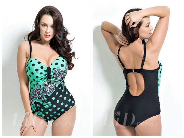 wedding photo - Print Plus Size One-Picec Swimwear Lidyy1605201039