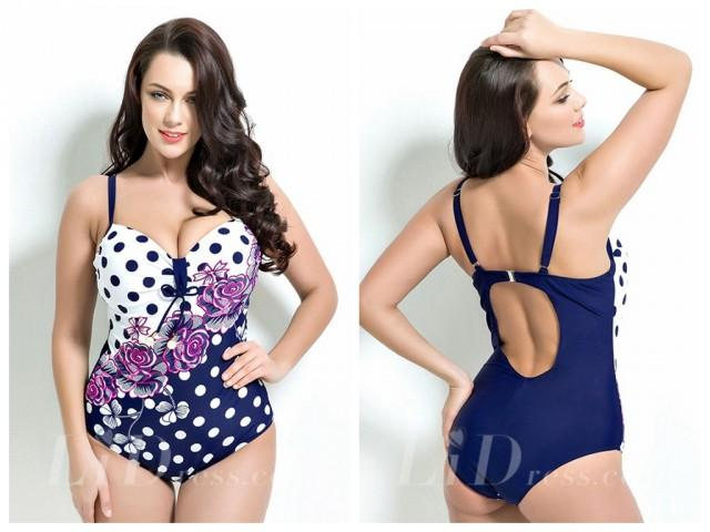 wedding photo - Print Plus Size One-Picec Swimwear Lidyy1605201038