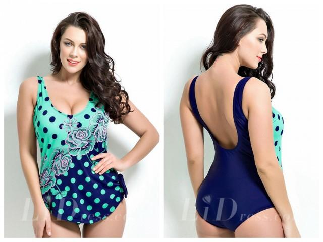 wedding photo - Print Plus Size One-Piece Swimwear Lidyy1605201033