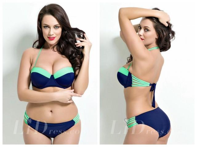 wedding photo - Halter Plus Size Two-Piece Bikini Lidyy1605201030