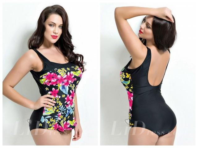 wedding photo - Floral Plus Size One-Piece Swimwear Lidyy1605201024