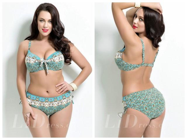 wedding photo - High Waist Print Plus Size Bikini Lidyy1605201018