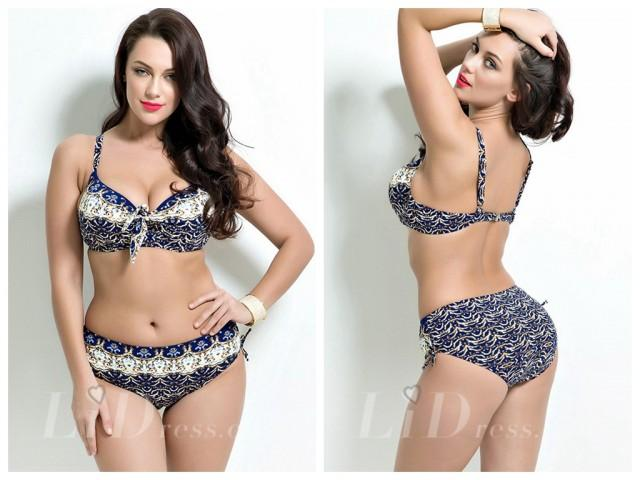 wedding photo - High Waist Print Plus Size Bikini Lidyy1605201017