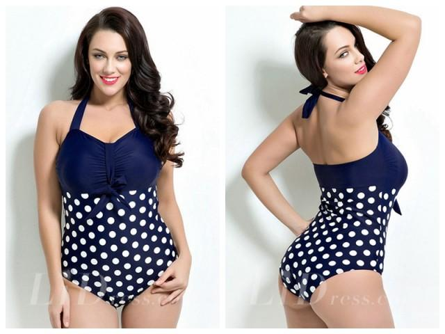 wedding photo - Halter One-Piece Print Swimsuit Lidyy1605201010