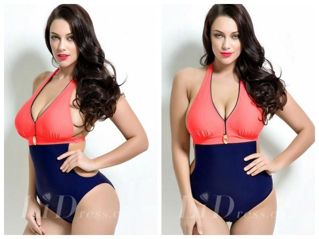 wedding photo - Helter Plus Size Monokini Lidyy1605201005