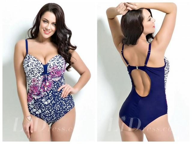 wedding photo - Floral Print Plus Size Swimwear Lidyy1605201003