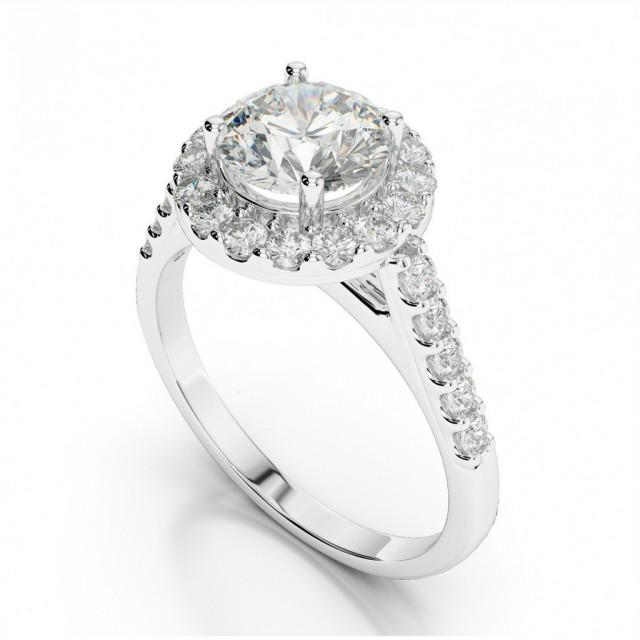 wedding photo - Forever One Moissanite & Diamond Engagement Ring - Moissanite Rings Etsy - Raven Fine Jewelers