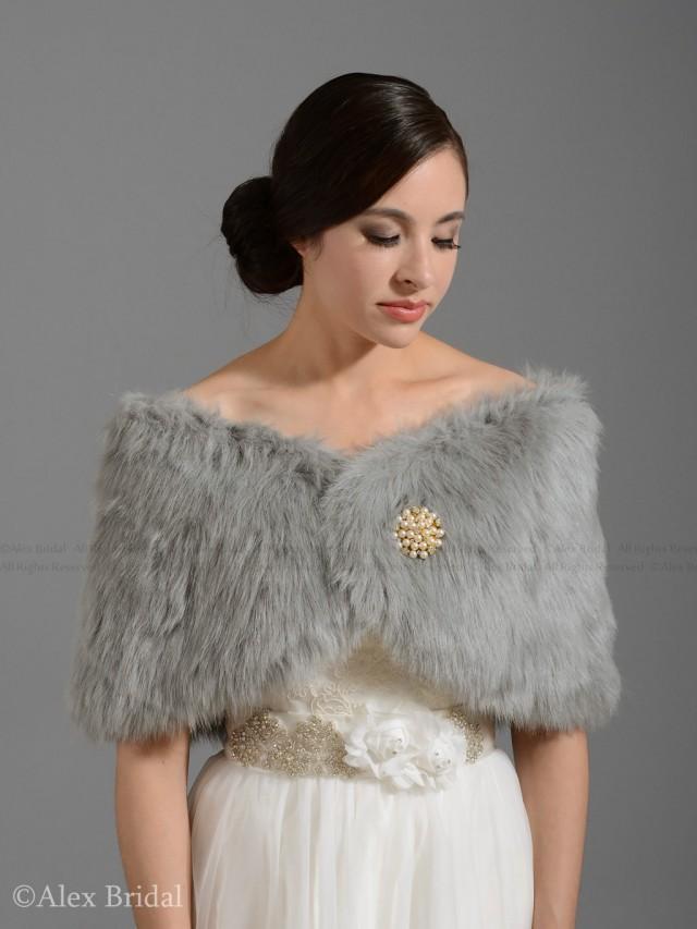Plus Size Faux Fur Shawl