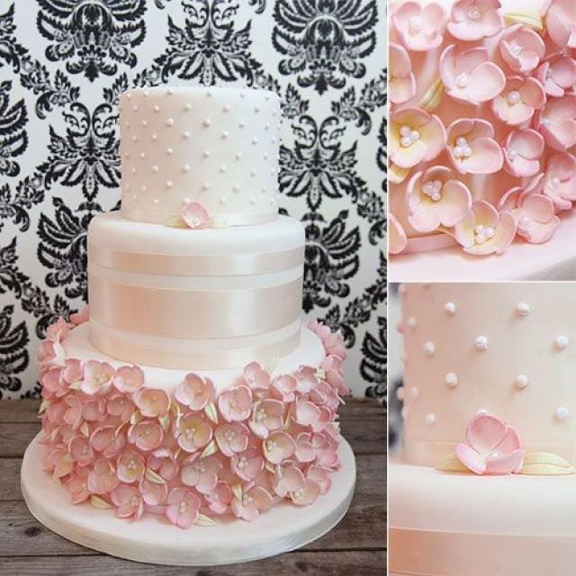 Wedding cakes melissa labbe cakes pink wedding cake covered wedding cakes melissa labbe cakes pink wedding cake covered with pink sugar flowers and satin ribbon 2521649 weddbook mightylinksfo