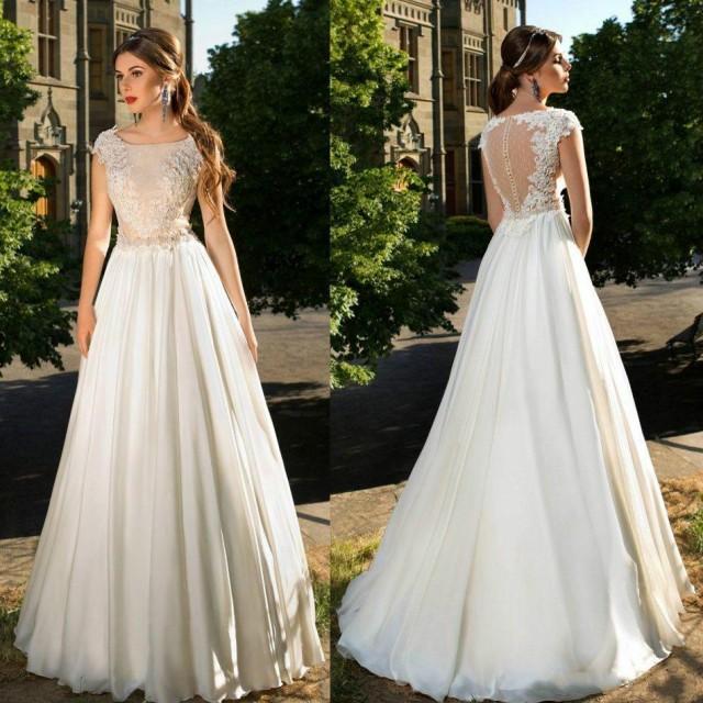 Garden Wedding Gowns: New Arrival Garden 2016 Wedding Dresses Sheer Garden Beads