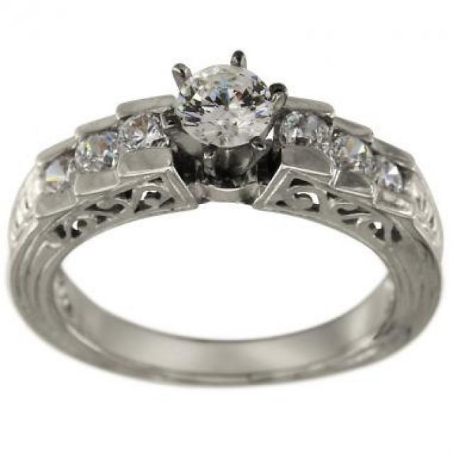 vintage engagement ring filigree channel