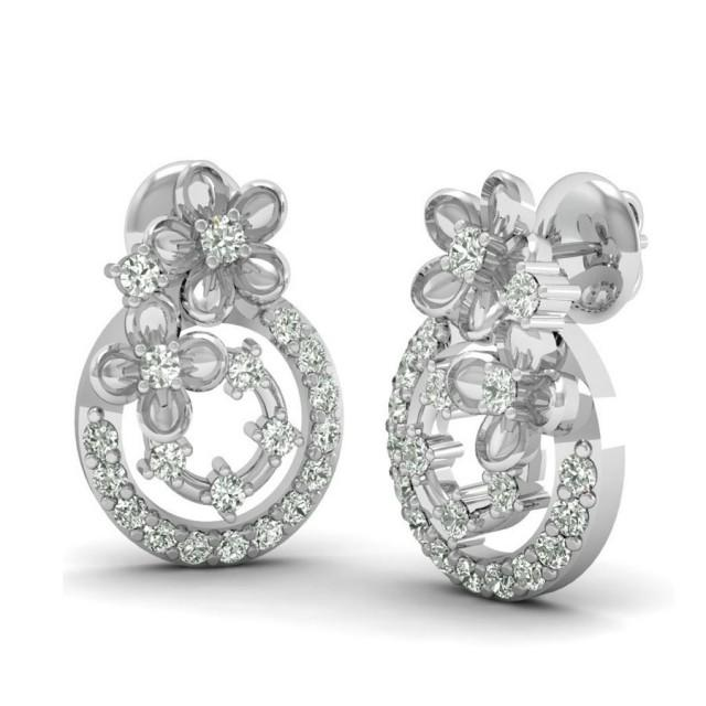 wedding photo - THE BETTINA SILVER EARRINGS. - heileigdiamond