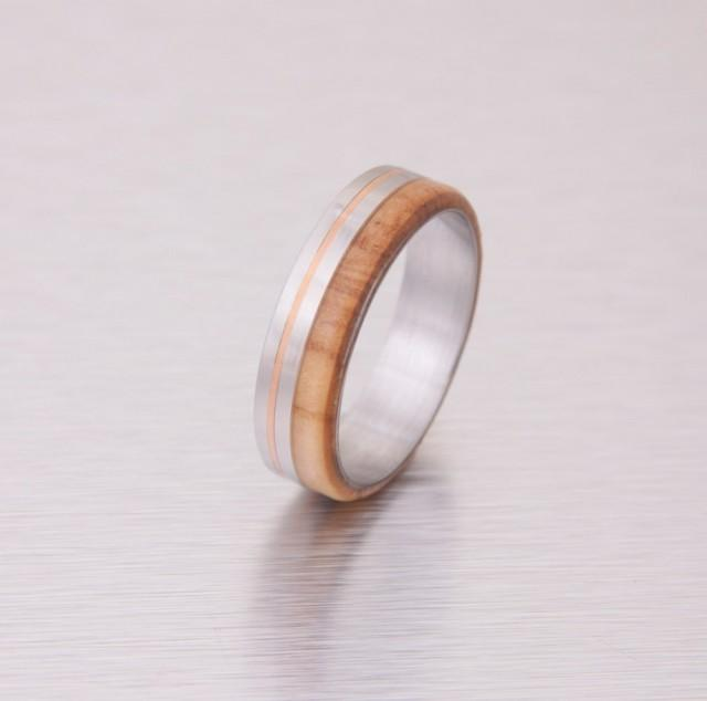wood wedding ring titanium wedding band men39s engagement With wood and metal wedding rings