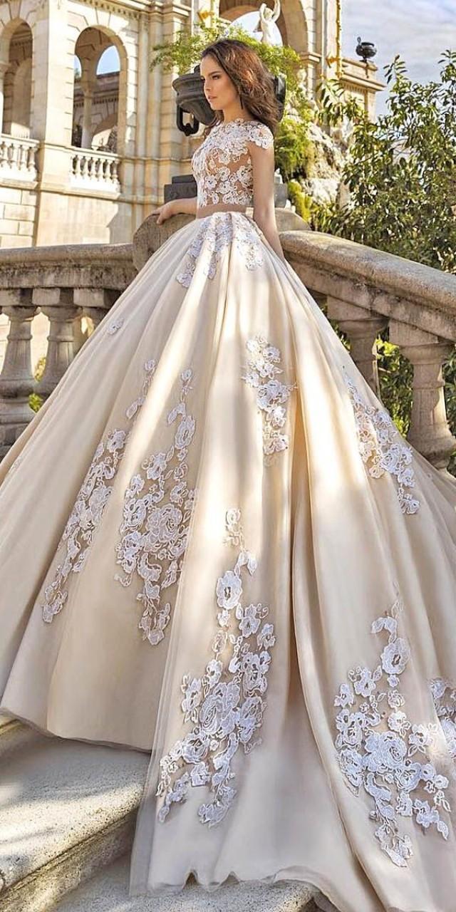 18 gorgeous floral applique wedding dresses trend for With floral applique wedding dress