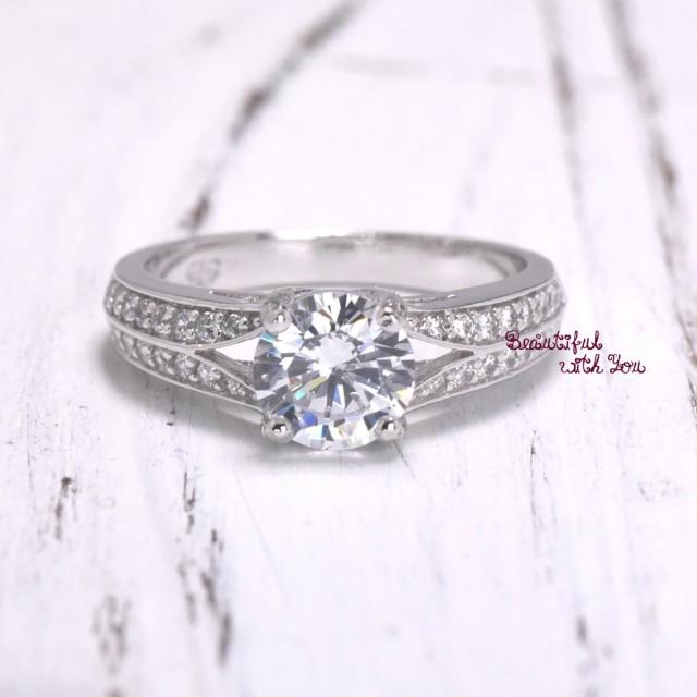 fiancee engagement ring for wedding band white gold