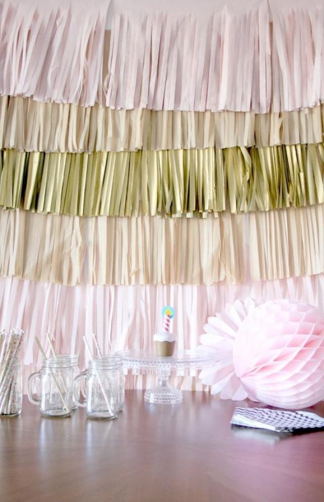 Wedding backdrop fringe curtain photography background for Background decoration for wedding